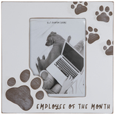 """Pawprint Employee Of The Month Wood Wall Frame - 5"""" x 7"""""""