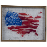 Painted United States Framed Wall Decor