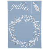 Gather Wreath Adhesive Silkscreen Stencil