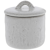 Cream Distressed Dimpled Canister