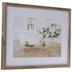Floral Claw Foot Bathtub Framed Wall Decor