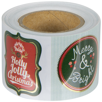 Merry Christmas Sticker Roll