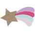 Rainbow Shooting Star Wood Decor