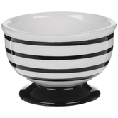 Black & White Striped Round Pot