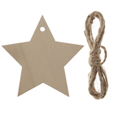 Star Wood Craft Tags