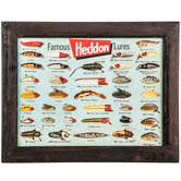 Heddon Famous Fishing Lures Wall Decor