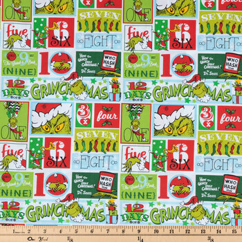 Grinchmas Block Cotton Fabric
