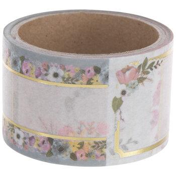 Floral Label Washi Tape