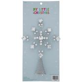 Rhinestone Snowflake Mini Tree Topper