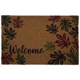 Welcome Leaves Doormat