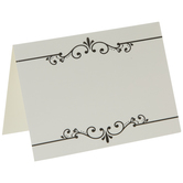 Black & White Scroll Place Cards