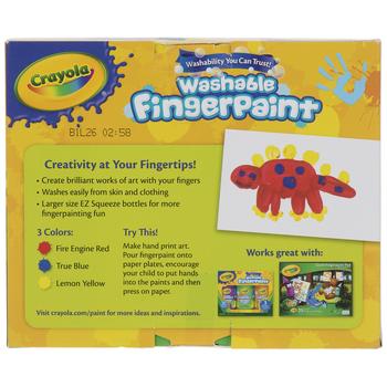 Crayola Washable Finger Paint - 3 Piece Set