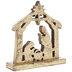 Antique Gold Wood Nativity
