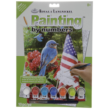 Patriotic Bluebird Paint By Number Kit