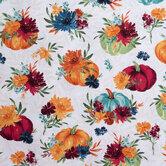 Floral & Pumpkin Cotton Fabric