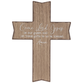 Come Lord Jesus Wood Wall Cross