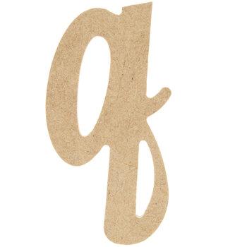 Lowercase Script Wood Letter - Q