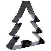 Black Tree Metal Candle Holder