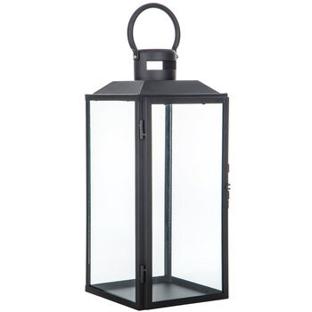 Black Simple Metal Lantern