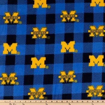 Michigan Allover Collegiate Fleece Fabric