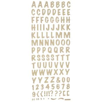 Gold Foil Epoxy Alphabet Stickers
