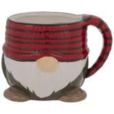 Red Striped Gnome Mug