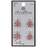 Red, Green & White Peppermint Charms