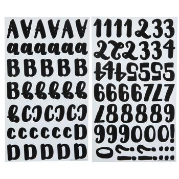 Black Handwritten Alphabet Stickers