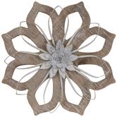 Whitewash Flower Wood Wall Decor