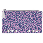 Purple & Blue Leopard Planner Pouch