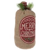 Merry Christmas Burlap Sack