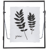 Grow Leaf Framed Decor