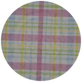 Pastel Plaid Plate