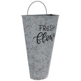 Fresh Cut Flowers Metal Wall Bucket