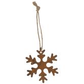Rust Snowflake Mini Ornaments