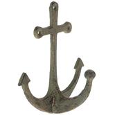 Patina Anchor Metal Wall Hook