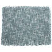 Teal & White Woven Placemat
