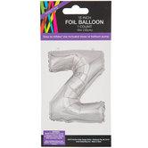 Silver Letter Foil Balloon - Z