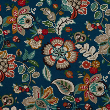 Peacock Telfair Outdoor Fabric