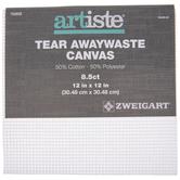 "White 8 1/2-Count Tear Awaywaste Cross Stitch Canvas - 12"" x 12"""