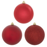 Shiny, Matte & Glitter Ball Ornaments