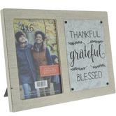 "Thankful Grateful Blessed Wood Frame - 4"" x 6"""