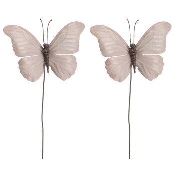 Soft Pink Metallic Butterfly Picks