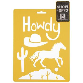 Howdy Western Stencil