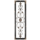 Rustic Floral & Swirl Metal Wall Decor