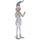 Winking Elf Dressed In Silver