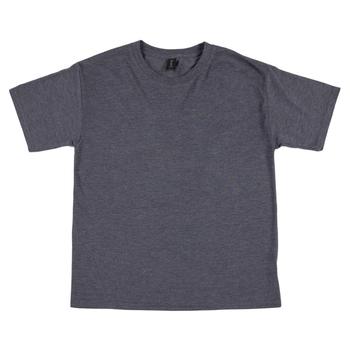 Heather Dark Gray Tri-Blend Youth T-Shirt - Medium