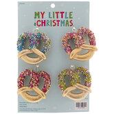 Mini Beaded Pretzel Ornaments