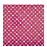 Pink & White Diagonal Plaid Gift Wrap