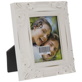 "White Embossed Frame - 2 1/2"" x 3"""